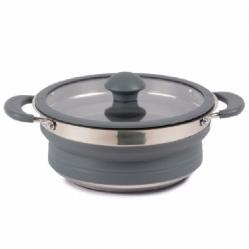 Kampa Folding Saucepan 1.5 L Grey Collapsible Camping Saucepan